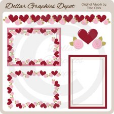 My Valentine Frames 2 - Scrap Elements