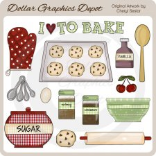Baking Elements - Clip Art