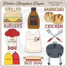 Barbecue - Clip Art - *DGD Exclusive*