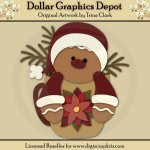 Gingerbread Christmas 1 - Cutting Files / Paper Piecing Patterns
