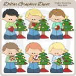 Christmas Cookie Boys 1 - Clip Art - *DGD Exclusive*
