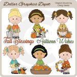 Fall Blessings Cuties - Clip Art