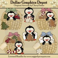 Christmas Basket Penguins
