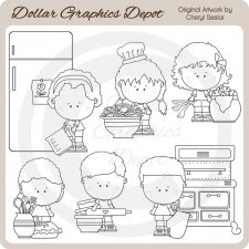Kitchen Munchkins - Digital Stamps