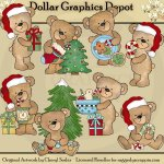 Bubsy Bear - Christmas - Clip Art