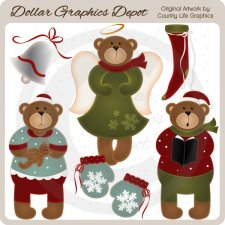 Beary Christmas 1 - Clip Art