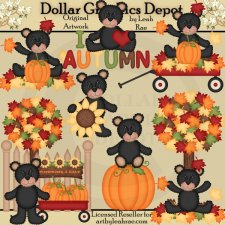 Autumn Bears 2 - Clip Art