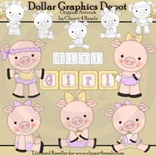 Baby Girl Piggies - Combo Set