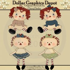 Little Annie Dolls - Clip Art