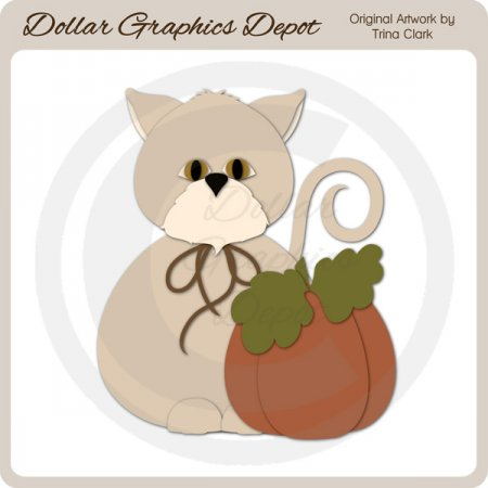 Autumn Kitty 2 - Cutting Files / Paper Piecing Patterns