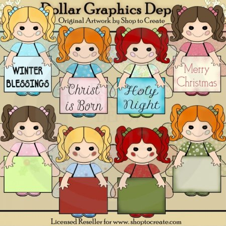 Betty Button - Christmas Signs - Clip Art