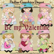 Dress Up Darcy - Be My Valentine - Clip Art