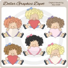 Hearts Of Love - Girls - Clip Art - *DGD Exclusive*