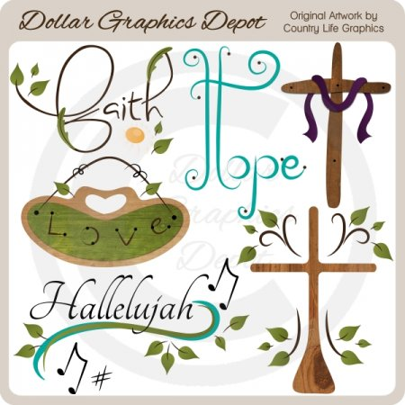 Faith, Hope, Love - Clip Art