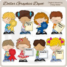 Little Award Kids - Clip Art