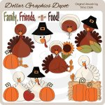 Thanksgiving Turkeys 4 - Clip Art