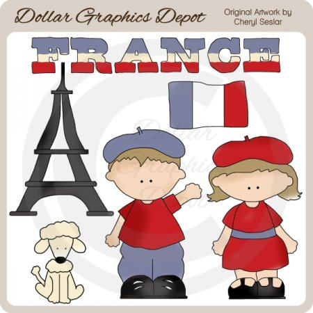 French Kids - Clip Art