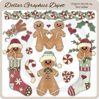 Never Enough Christmas Gingerbread 2 - Clip Art