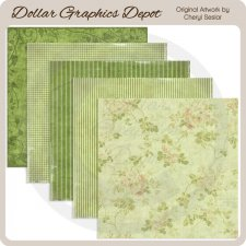 Glorious Green - Scrap Papers