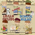Little Luke - Loves School - Clip Art