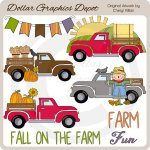 Fall On The Farm - Clip Art