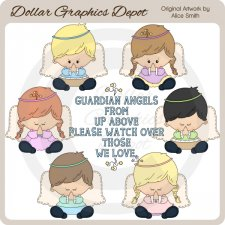 Prayer Angels - Clip Art - *DGD Exclusive*