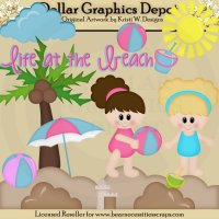 Life At The Beach - Clip Art - *DCS Exclusive*