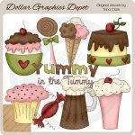 Yummy In The Tummy - Clip Art