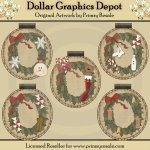 Winter Wreath Ornie Tags