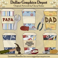 Father's Day Mocha - Clip Art - *DCS Exclusive*