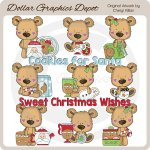 Little Bears - Christmas Treats - Clip Art - *DGD Exclusive*
