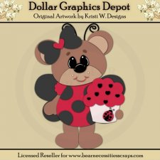 Ladybug Bear 6 - Cutting Files / Paper Piecing - *DGD Exclusive*