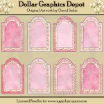 Pretty In Pink Doodle Tags - Printables