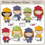 Cute Little Graduates - Clip Art