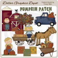 At The Pumpkin Patch - Clip Art - *DCS Exclusive*