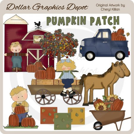 At The Pumpkin Patch - Clip Art - *DGD Exclusive*
