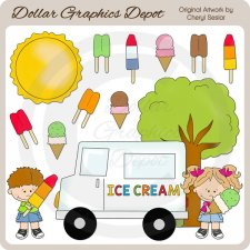 Ice Cream Truck - Clip Art