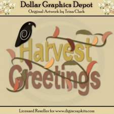 Harvest Greetings 1 - Cutting Files / Paper Piecing Patterns