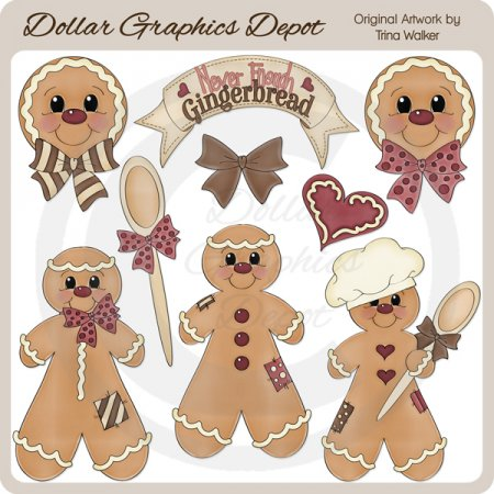Never Enough Gingerbread - Clip Art