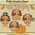 Thanksgiving Turkeys - Clip Art