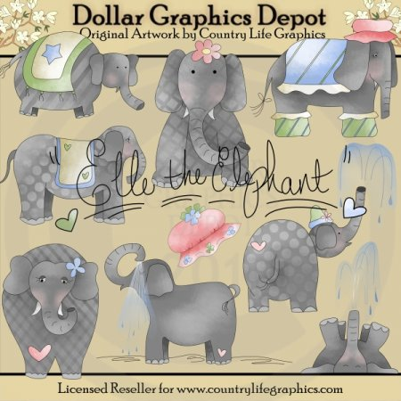 Elle The Elephant - Clip Art