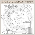 Christmas Cheer 3 - Digital Stamps