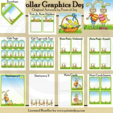 Easter Bunny Cards, Tags, and Stationary - Printables