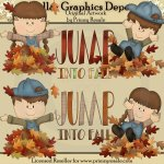 Jump Into Fall - Clip Art