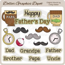 Happy Father's Day - Clip Art