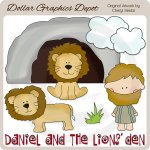 Daniel and The Lions' Den - Clip Art