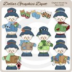 Snowmen and Mittens - Clip Art - *DGD Exclusive*