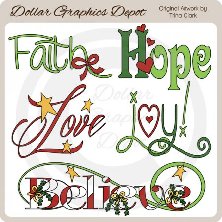 Christmas Word Art 3