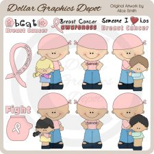 Breast Cancer Support - Clip Art