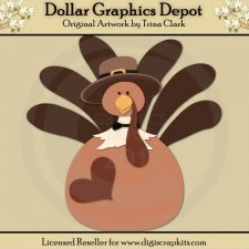 Thanksgiving Turkey - Cutting Files / Paper Piecing Patterns